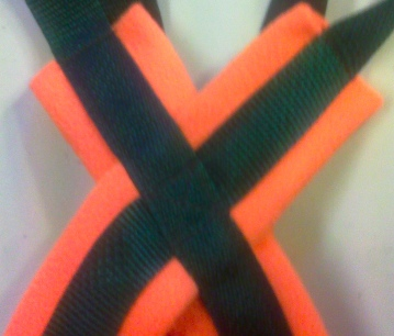 Forest Green/Orange Recreational Harness close up