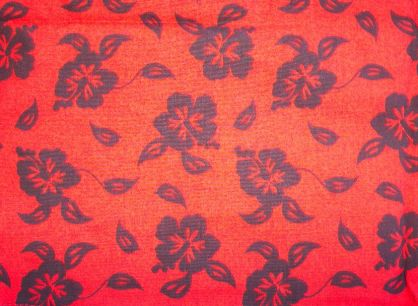 Red w/ Black Flower Print