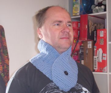 Deron Wearing A Neck Warmer